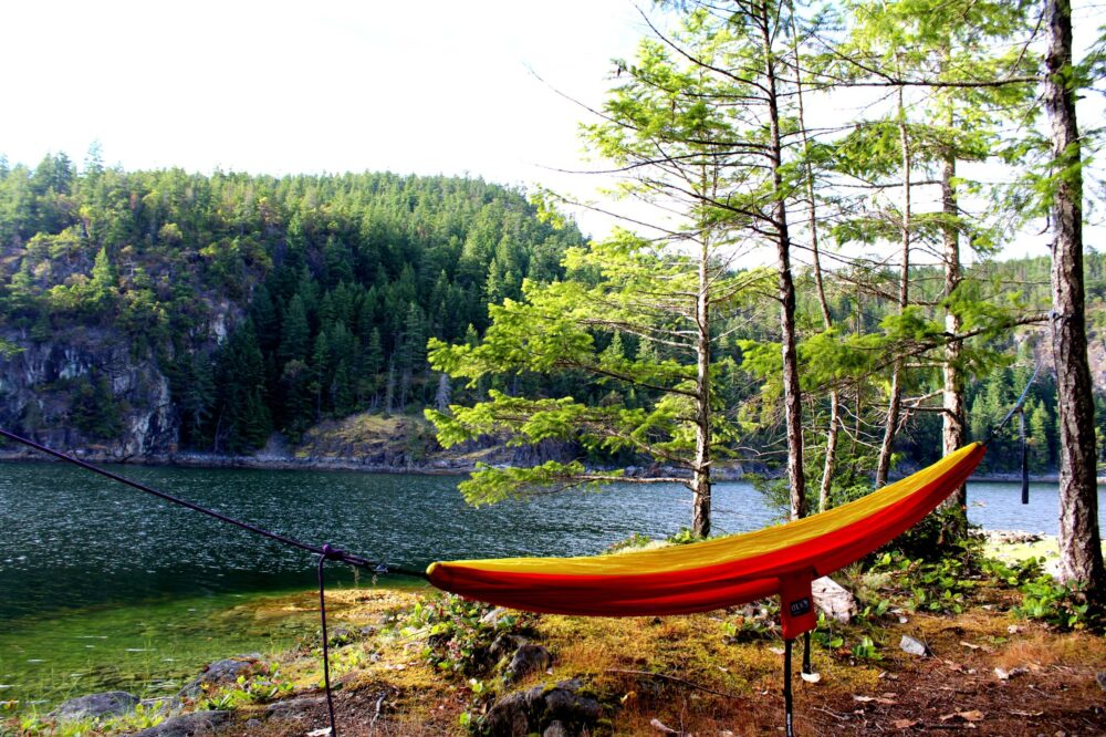 Hammock at Martin Island, Desolation sound