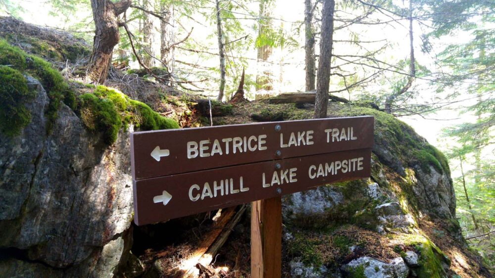 BC Parks signage in Valhalla Provincial Park