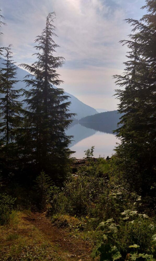 Morning views of Cahill Lake, Valhalla Provincial Park
