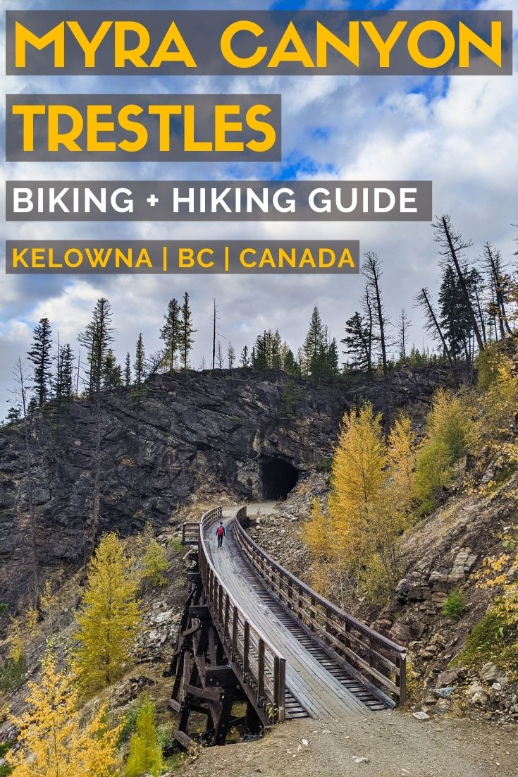 High in the hills east of Kelowna is a walk/bike ride like no other. Beautiful Myra Canyon is home to 18 trestle bridges along the abandoned Kettle Valley Railway. Ranging up to 220m in length, these wooden railway bridges are a sight to behold. The views from them are pretty stunning too. Click here to discover everything you need to know about this awesome hiking and biking destination in British Columbia, Canada. offtracktravel.ca