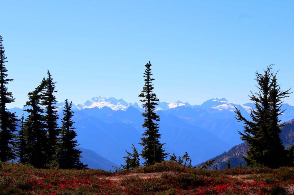 Hiking the Heather-Maple Pass Loop Trail, Washington, USA - mountain views