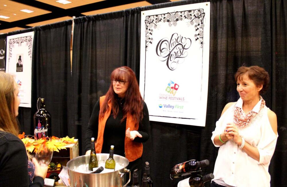 Oliver Twist wine at Cropped wine festival, Penticton