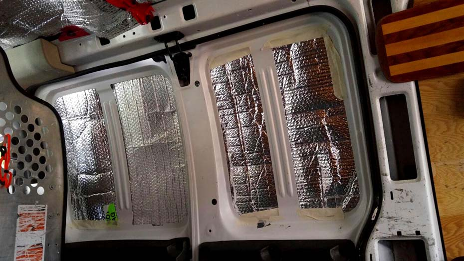 GMC Savana Conversion - side door insulation