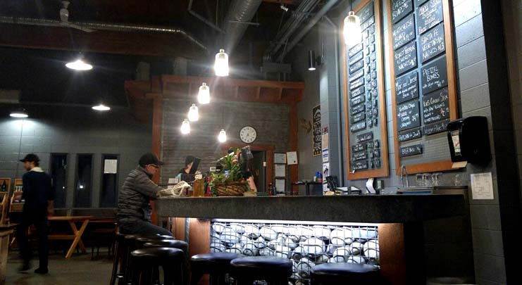 Inside Cannery Brewing's taproom - just one of Penticton's breweries