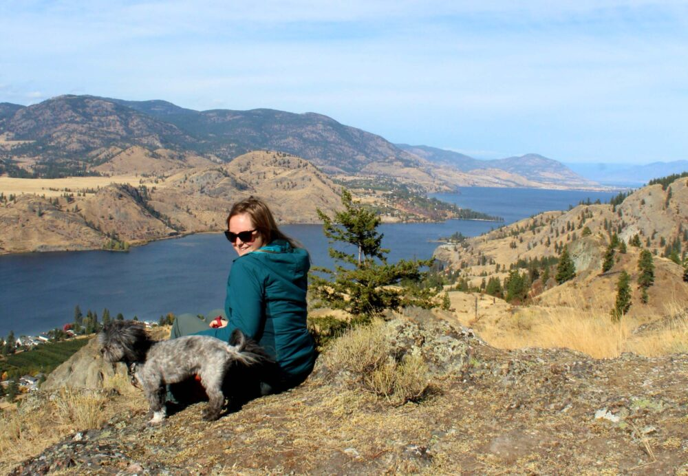 Views from Peach Cliff hike over Skaha Lake and Penticton