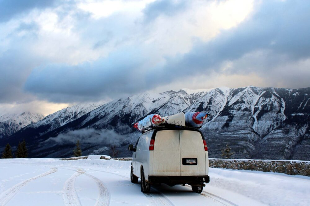 7 Reasons Why You Should Go on a Winter Road Trip in Canada-2 kayaks 1 canoe