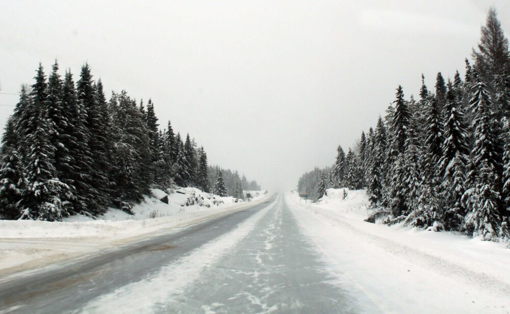 Essential Tips for a Winter Road Trip in Canada - Snowy road conditions in Ontario