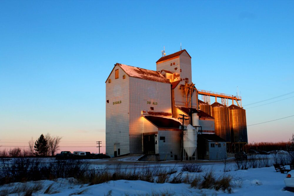 Essential Tips for a Winter Road Trip in Canada - View of Dugald Grain Elevator
