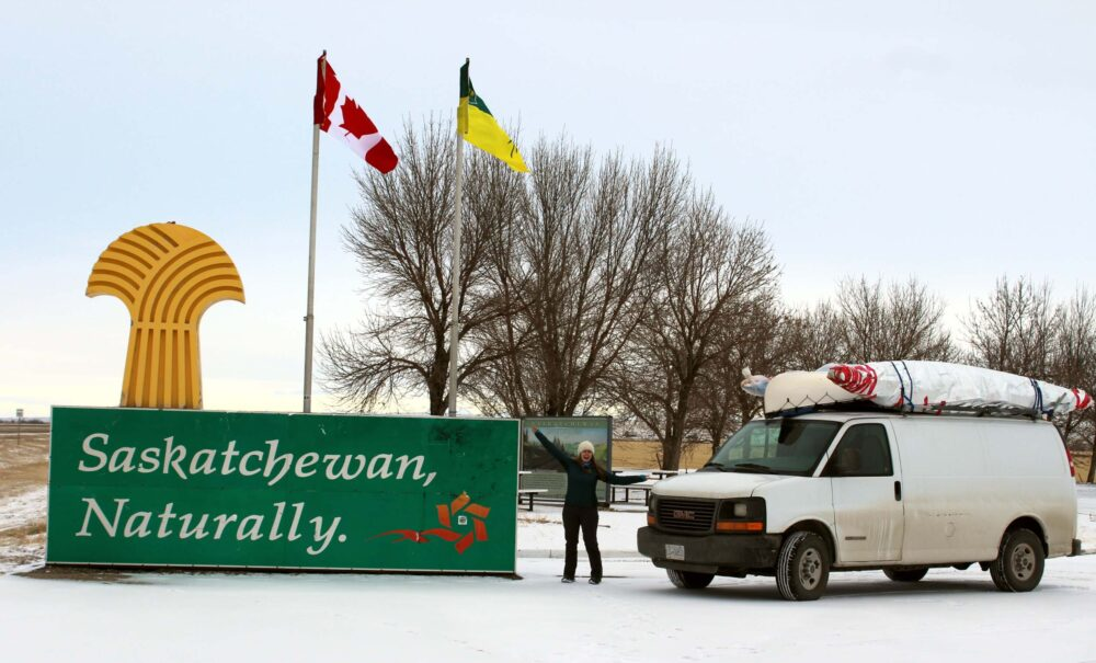 Essential Tips for a Winter Road Trip in Canada - Arriving at the Saskatchewan border