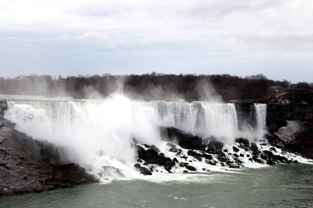 Essential Tips for a Winter Road Trip in Canada - view of the American side of Niagara Falls