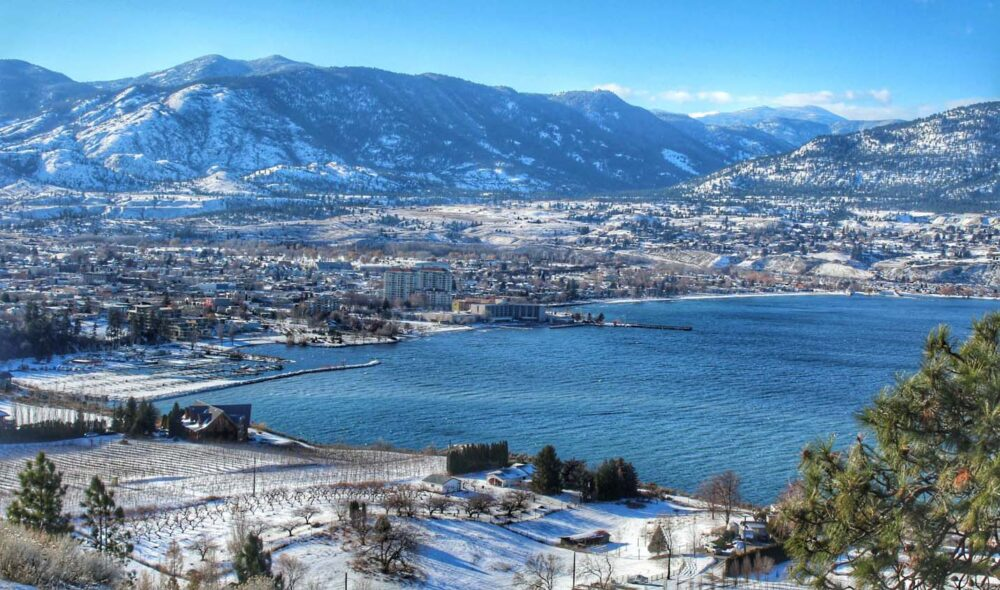 65 Things to do in Canada in winter - Views of Penticton, BC in winter