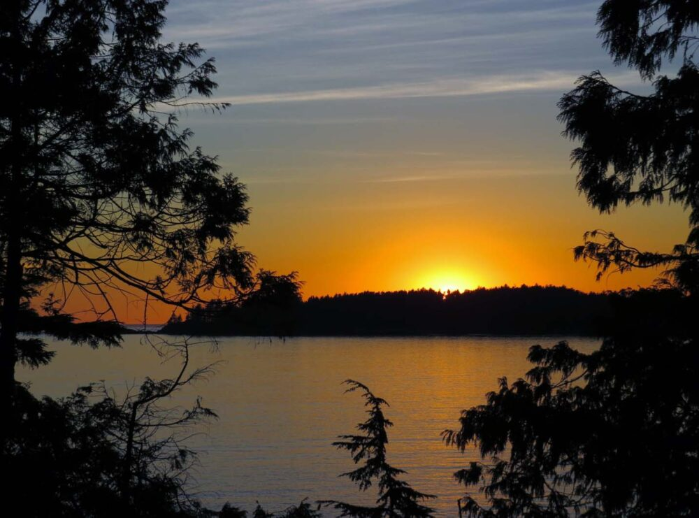 Sunset in Tofino - Romantic Getaways in British Columbia