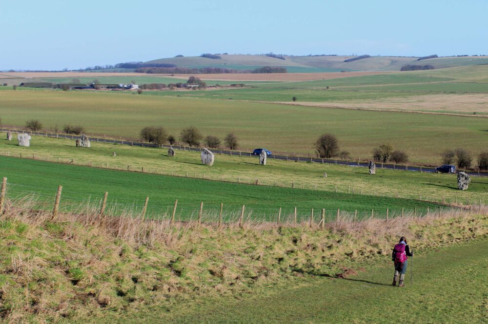 Great Stones Way long distance walking path - Avebury stones