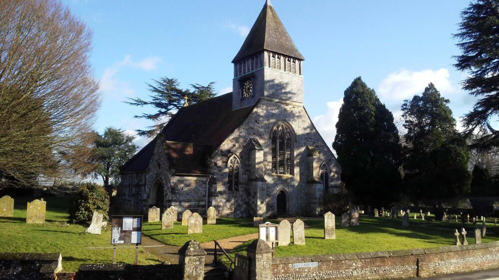 Great Stones Way long distance walking path - Vale of Pewsey church