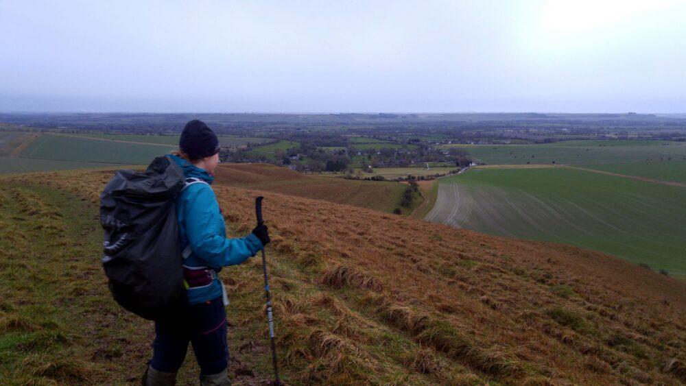 Great Stones Way long distance walking path - walking in wet weather