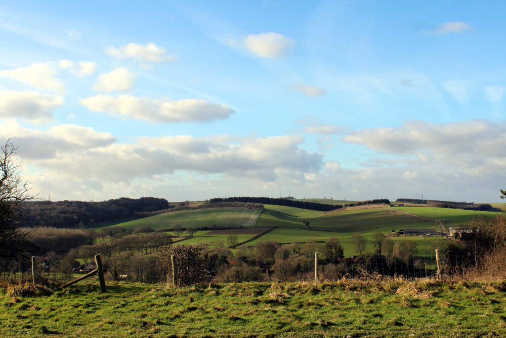 Great Stones Way long distance walking path - Wiltshire countryside