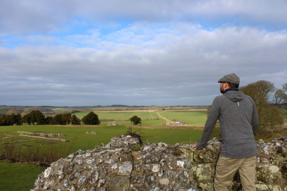Great Stones Way long distance walking path - JR and Old Sarum