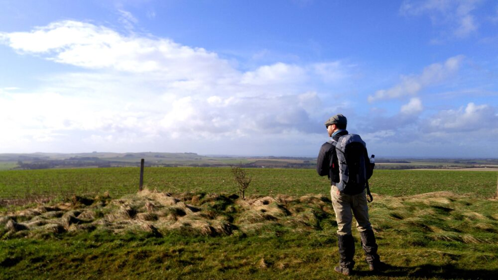 Great Stones Way long distance walking path - views of Wiltshire countryside