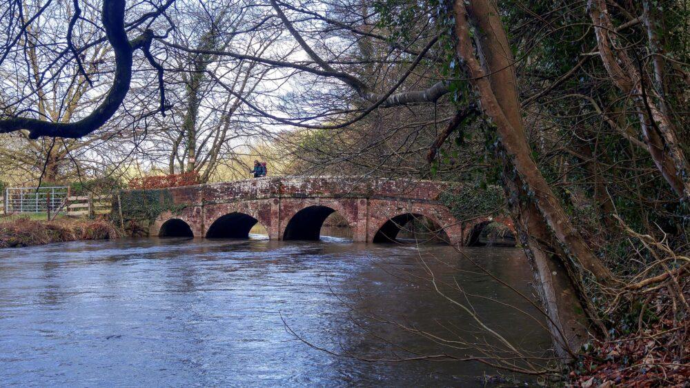 Great Stones Way long distance walking path - Avon river bridge