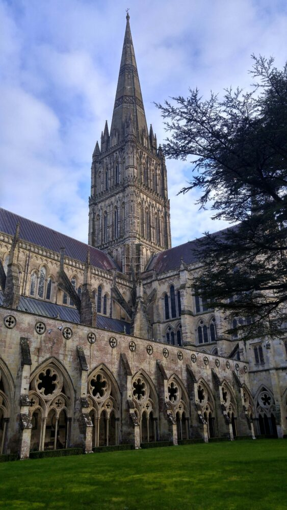 Walking the Great Stones Way long distance trail - Salisbury Cathedral