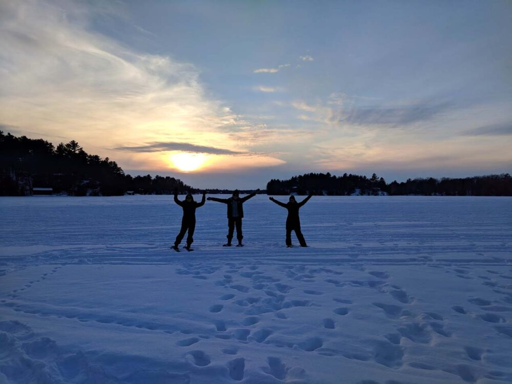 10 Ways to Explore Canada's Winter Wonderland - sunset over lake