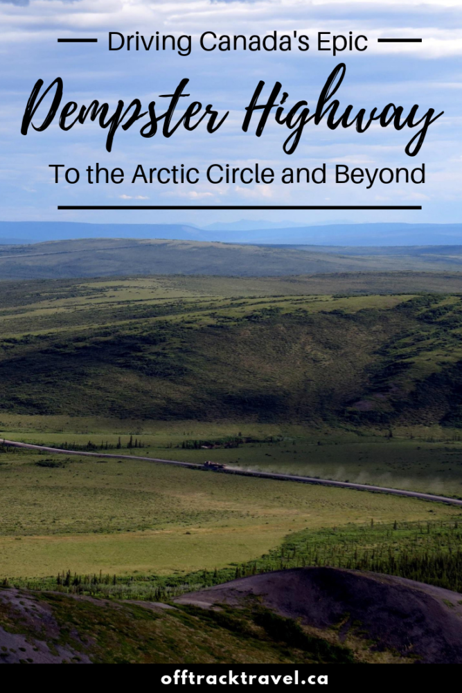 The Dempster Highway is an incredible, one of a kind adventure road trip in Canada. The 700km+ dirt road travels to the Arctic Circle and beyond, through mountains, tundra and endless wilderness. It's epic in every way! Click here to read everything you need to know about driving the Dempster Highway. offtracktravel.ca