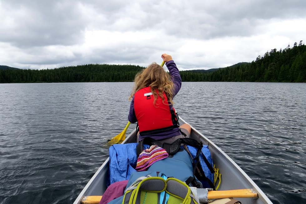 Paddling the Sayward Canoe Route - Brewster Lake