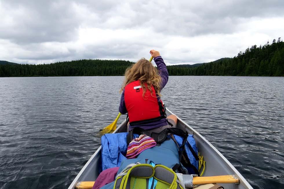 Paddling the Sayward Canoe Route - Brewster Lake