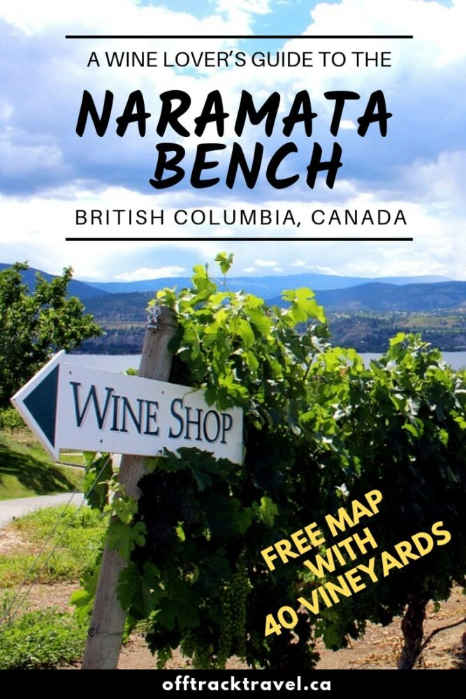 Click here to discover the comprehensive eBook guide to the beautiful Naramata Bench wine region in British Columbia. Everything you need to know about planning a trip including accommodation, travel, wine touring tips and advice plus a unique hand-drawn map featuring every single winery with open tasting room. offtracktravel.ca