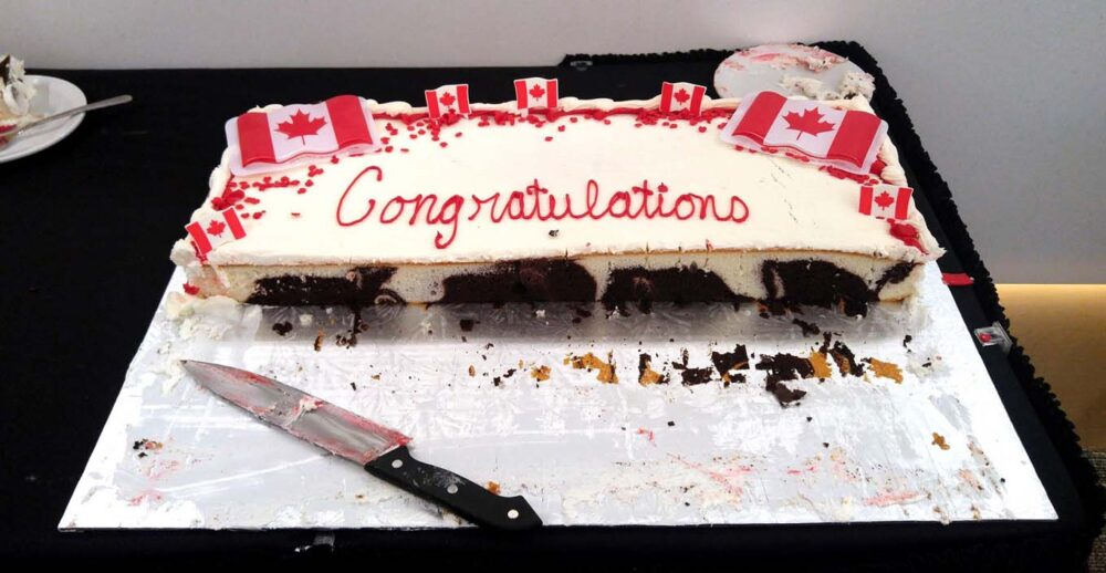 Congratulations cake at Canadian Citizenship Oath Ceremony