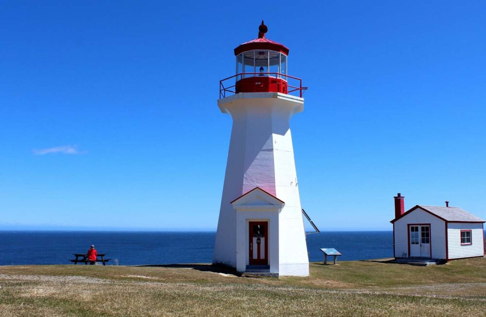 cap gaspe lighthouse forillon national park hiking