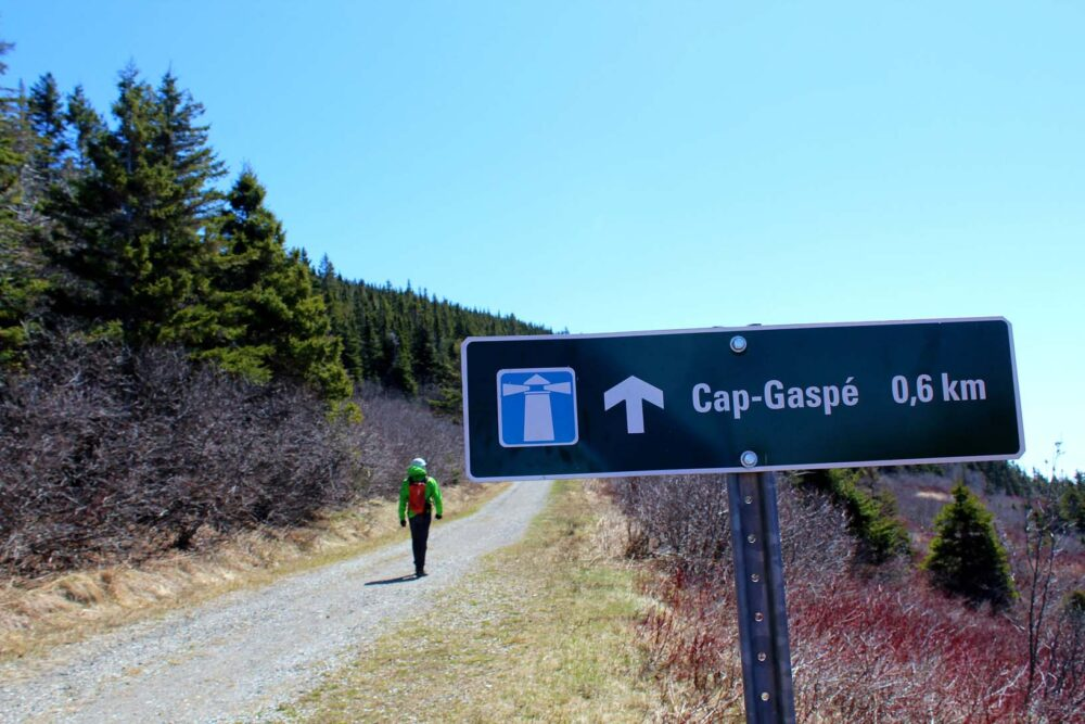 Cap Gaspe hike sign, Forillon National Park, Quebec
