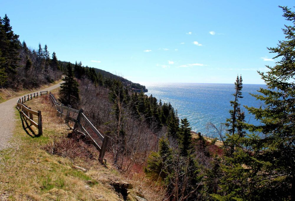Coastal views on Cap Gaspe hike, Forillon National Park hiking