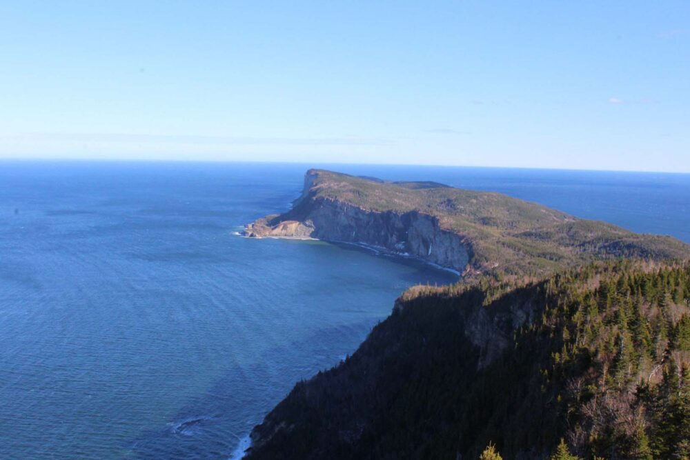 Cap Gaspe from Mont-Saint-Alban hike viewpoint