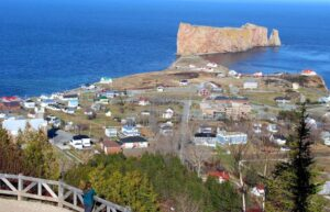 Viewpoint above Perce Rock, Gaspe Peninsula - quebec parks