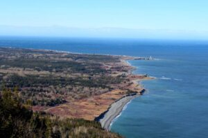 Coastal views from Mont-Saint-Alban hike +observation tower