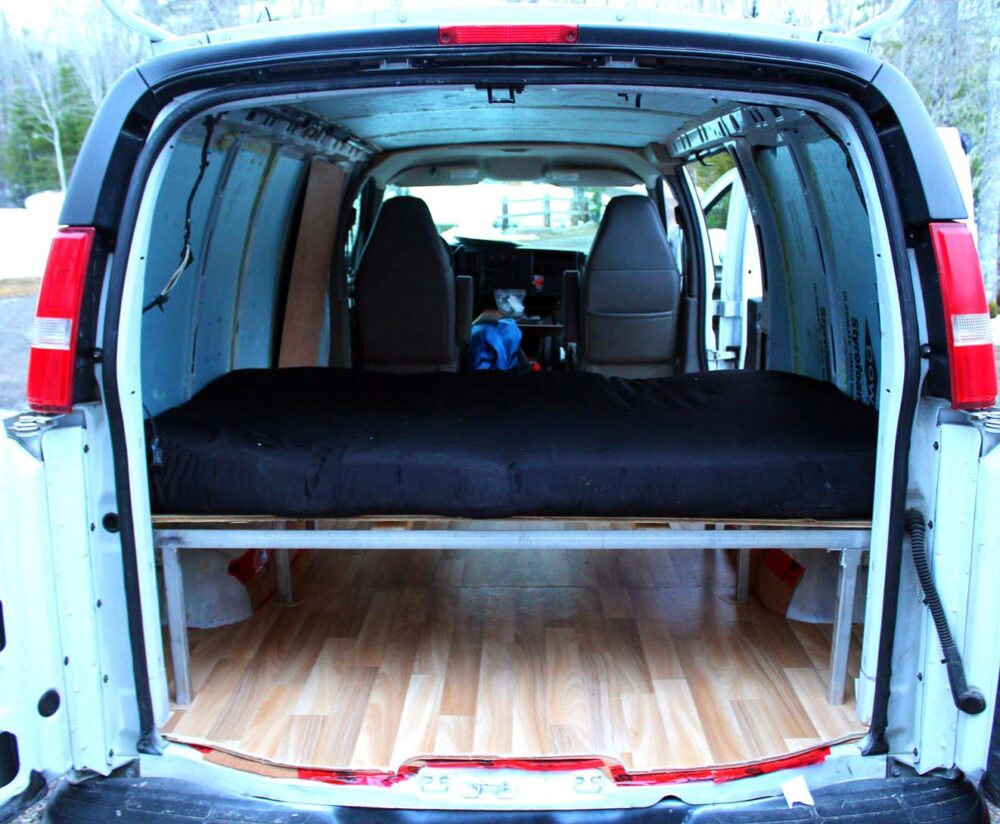 inside finished part one diy gmc savana conversion van