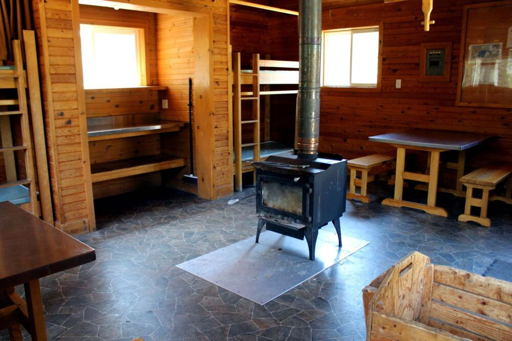 inside gaspesie national park camping huts