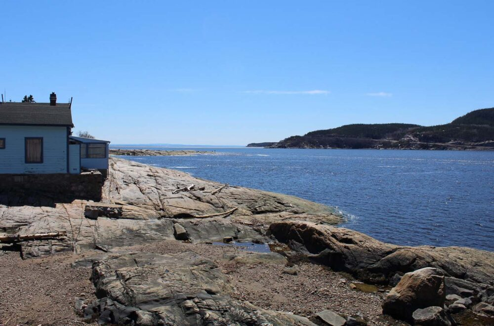 Observation area outside the CIMM, Tadoussac