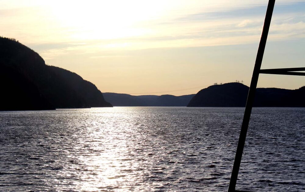 Views from Tadoussac ferry - a great place to try and whale watch