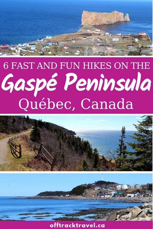 The province of Québec is supremely underrated as a hiking destination. The varied landscape of mountains, rugged coast and dense pine forests on Québec's Gaspé Peninsula, in particular, is the perfect mix for great hiking opportunities. Here are six fast and fun Gaspesie, Quebec trails to try out! offtracktravel.ca