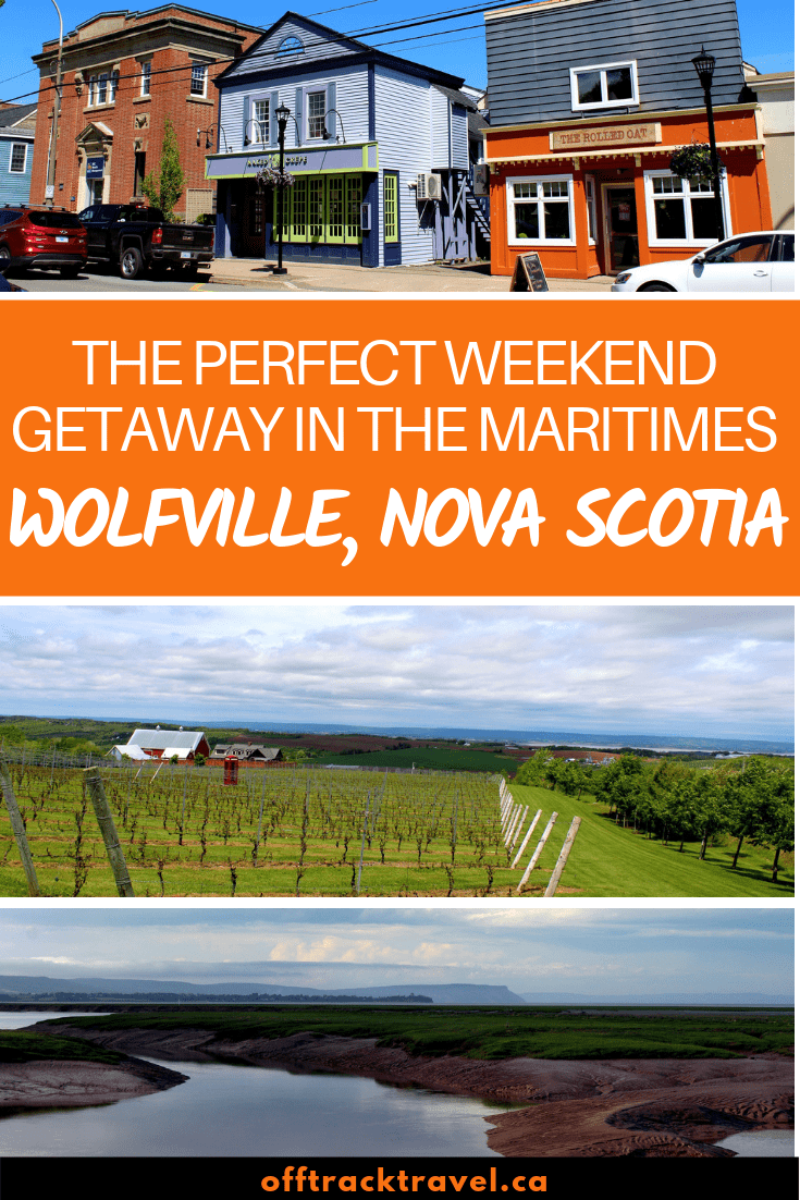 Just an hour's drive away from Halifax is Wolfville, a little gem of a gateway to the bountiful Annapolis Valley. For a place with a year-round population of only around 5000 people, Wolfville kicks well above its weight on the 'things to do' front. For this reason, Wolfville is an ideal weekend gateway in the Maritimes region of Canada. offtracktravel.ca