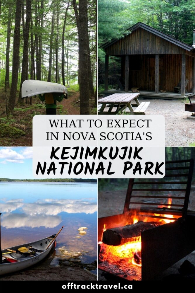 Click here to discover what to expect when canoe camping in beautiful Kejimkujik National Park, Nova Scotia, Canada. offtracktravel.ca