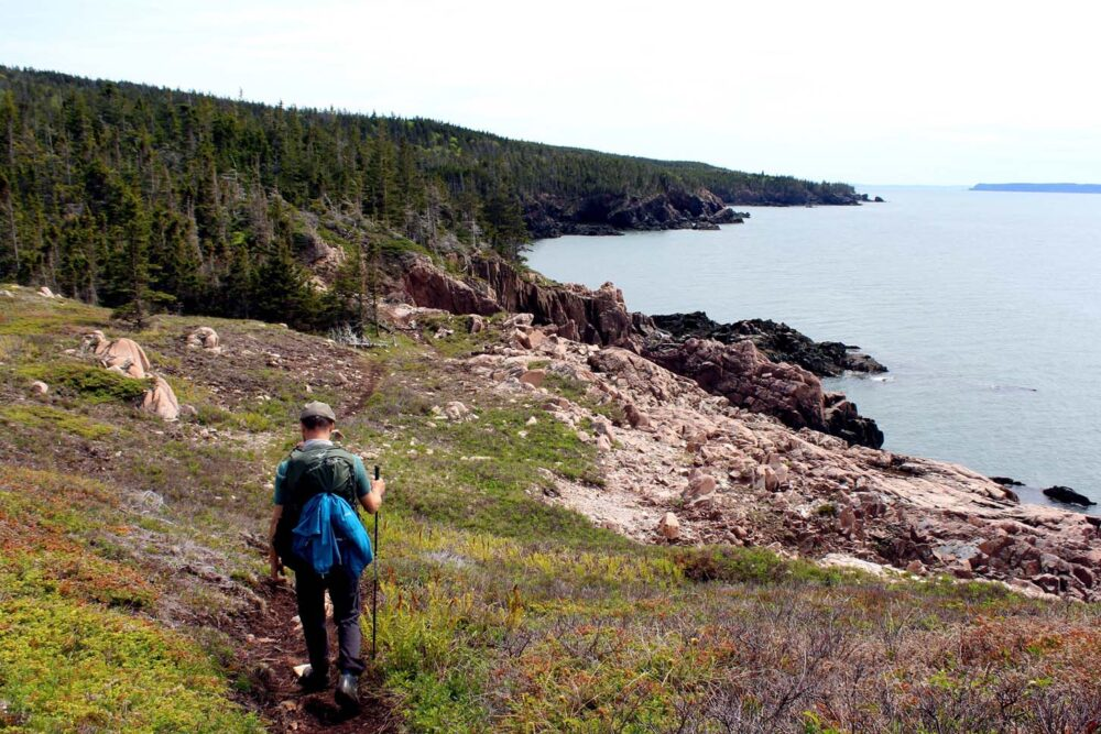 cape chignecto hiking coastal view big bald rock