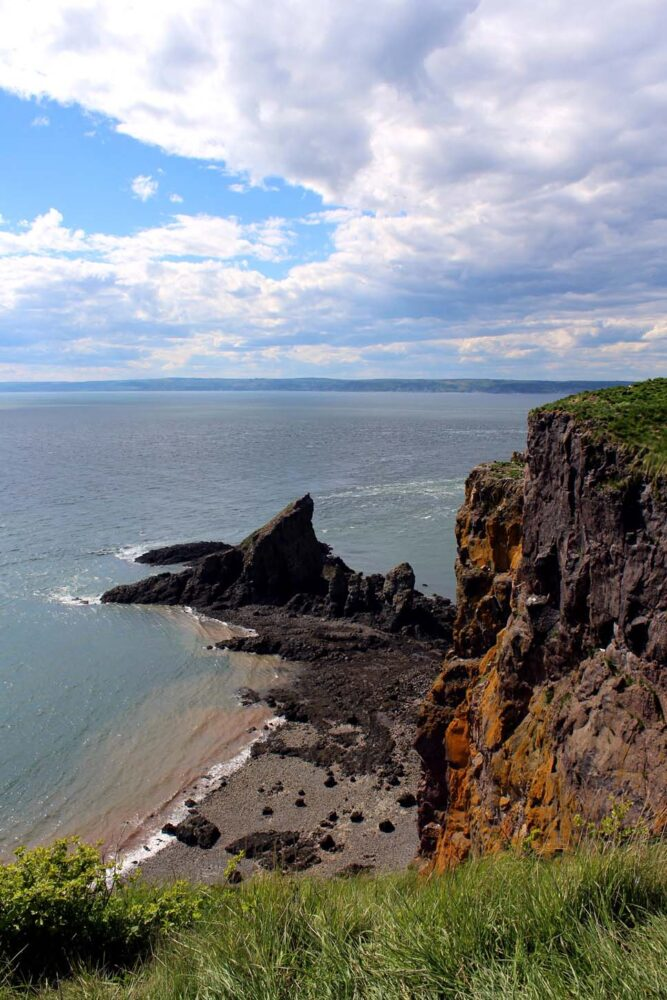 Cape Split falling into the Bay of Fundy