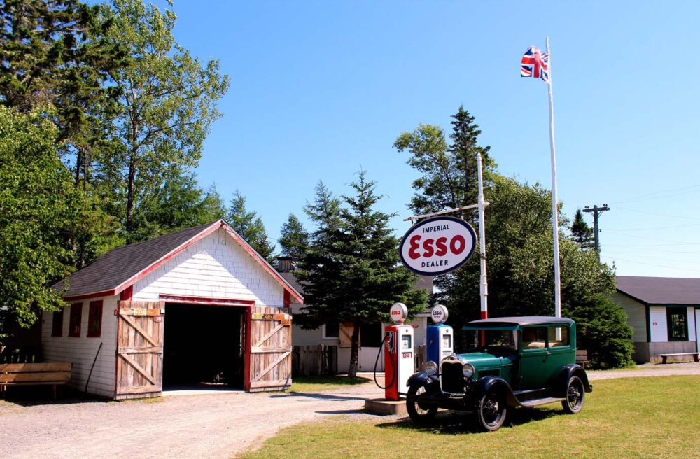 esso station at memory lane heritage village, one of the best day trips from halifax
