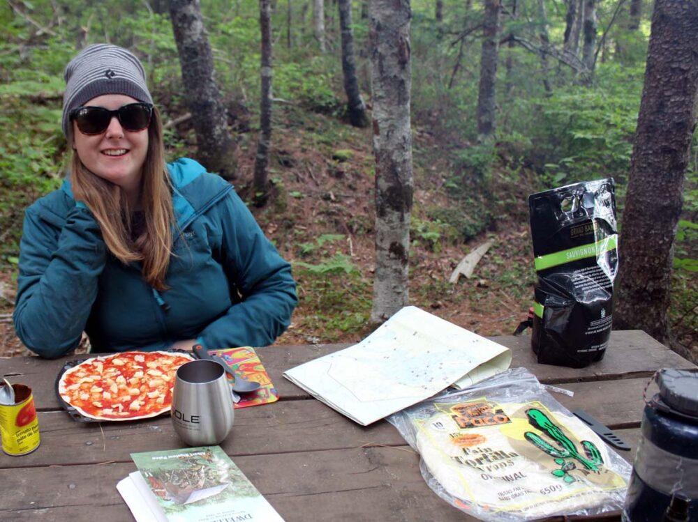 gemma kejimkujik national park camping dinnertime