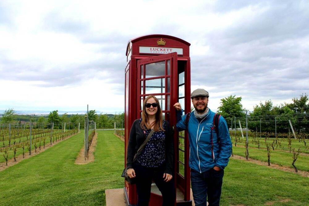 gemma and jr at luckett vineyards, Nova Scotia