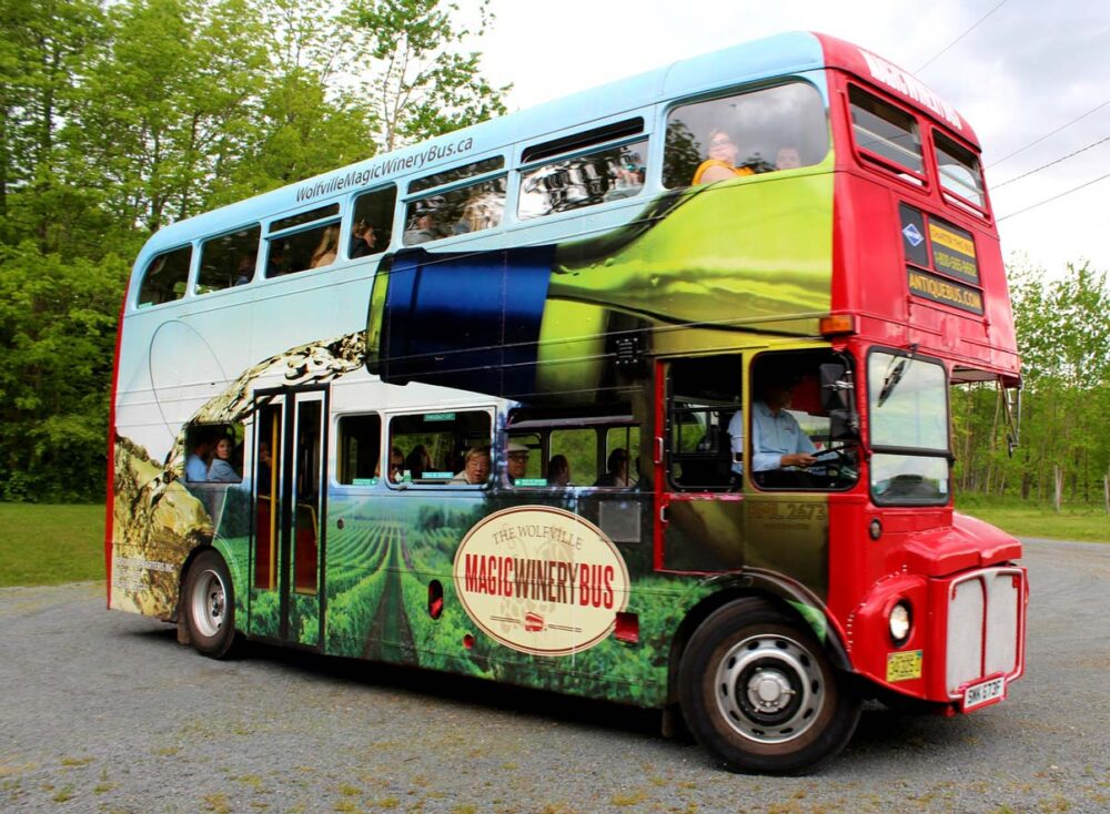 magic winery tour bus, just one of many things to do in wolfville