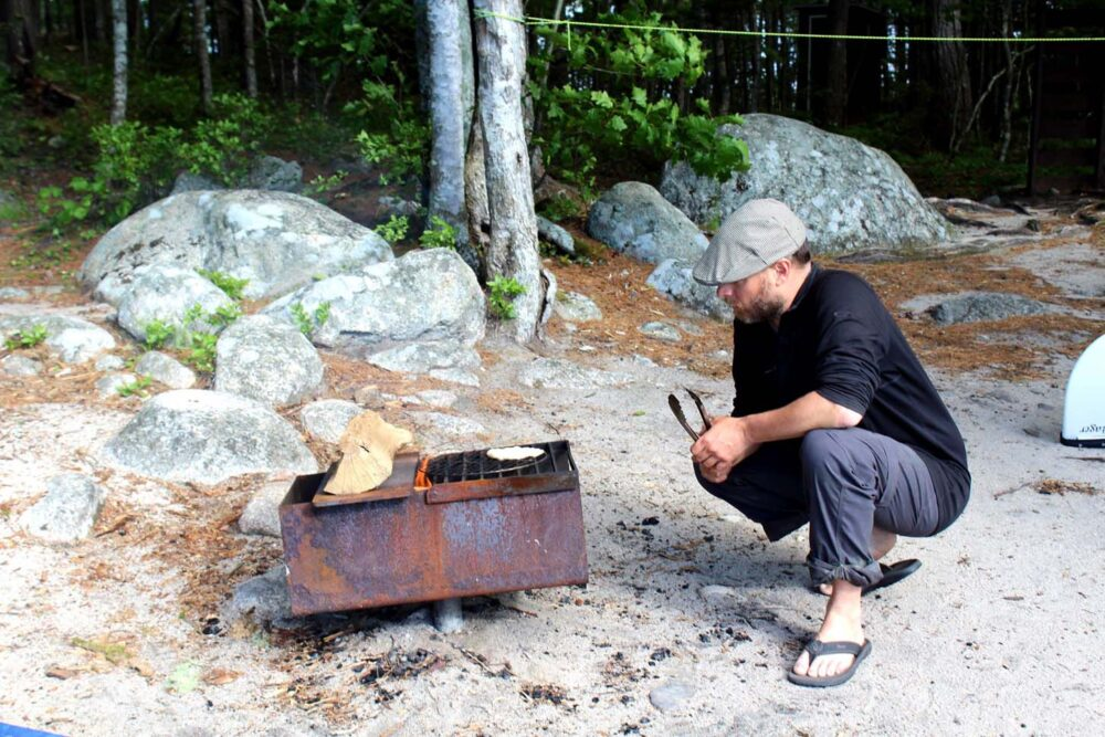 Cooking in Kejimkujik national park